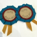 Birthday Rosette Blue