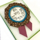 Birthday Rosette Brown 1