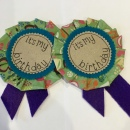 Birthday Rosette Green 6