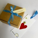 Recycled Gift Box & ribbon