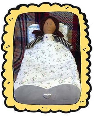 Doll in Shoe Box Bed