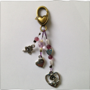 Heart Key Ring Pink