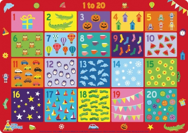 Children/'s Educational Placemat by Little Wigwam Dinosaurs