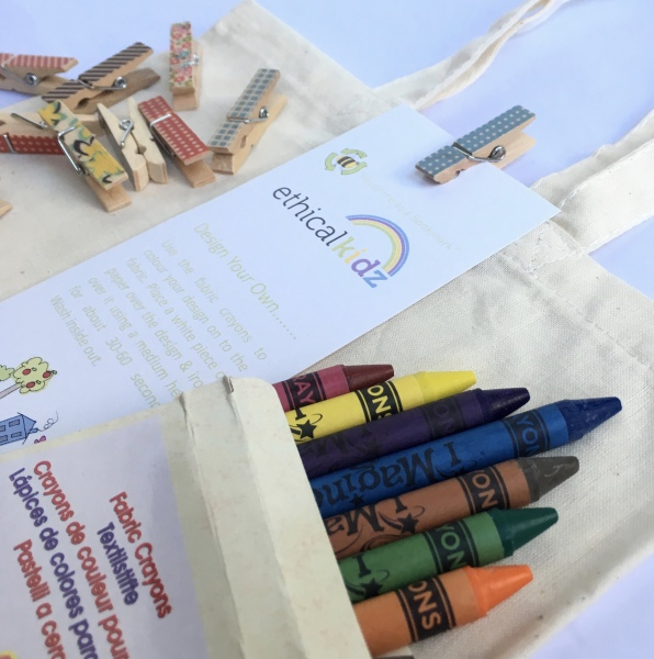 Design your own fabric party bag - Ethical Kidz