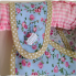 Reversible Apron Blue Rose Button