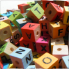 Letter Cubes Colour wood