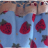 Apron Strawberry fields Pocket