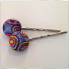 Hand decorated bobby pins Retro