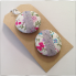 Hand decorated button bobbles Flower Garden