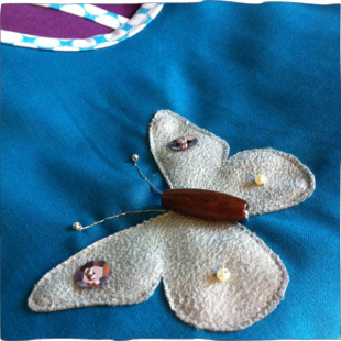 Apron Butterfly Applique Embroidery