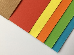 Set of 5 Colours Recycled Card
