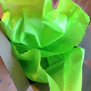 100 Recycled Tissue Paper Lime