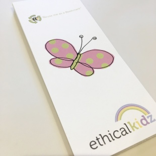Butterfly Bookmark recycled