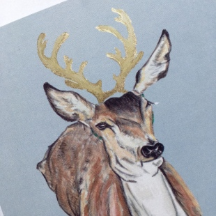 Deer Card Gold 1