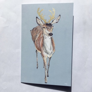 Deer Card Gold