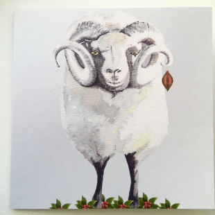 Derbyshire Ram Recycled Card 1