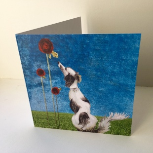 Dog & Roses Recycled Cards