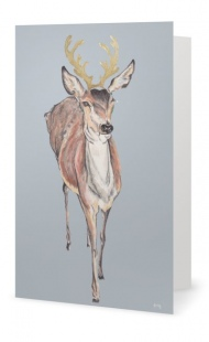 Festive Deer Recycled Card