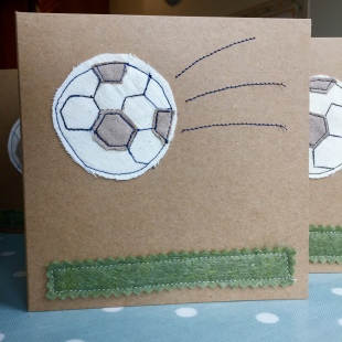 Handmade Cards Recycled Football on Field
