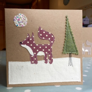 Handmade Cards Recycled Red Snow Fox