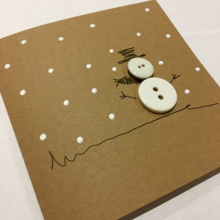 Handmade Recycled Snowman Card 1