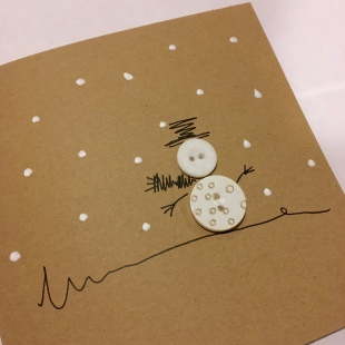 Handmade Recycled Snowman Card 2