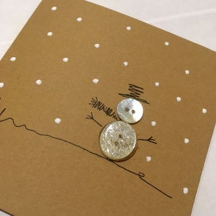 Handmade Recycled Snowman Card 3