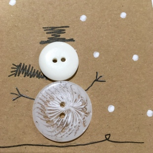 Handmade Recycled Snowman Card 5