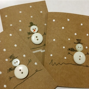 Handmade Recycled Snowman Card 7