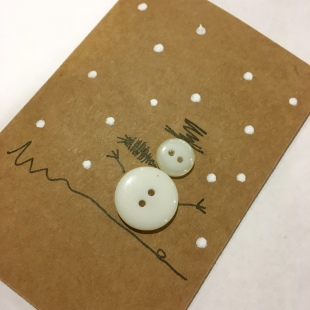 Handmade Recycled Snowman Card 8