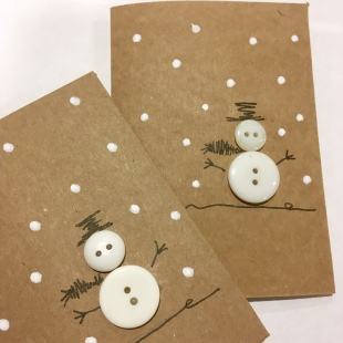 Handmade Recycled Snowman Card 9