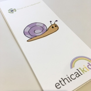 Snail Bookmark recycled
