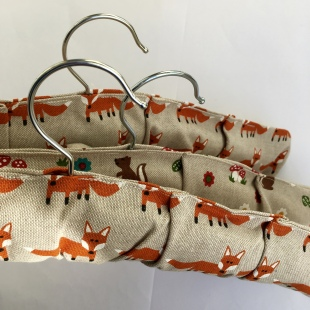 Fox and Woodland Creatures Coat Hangers Covered