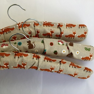 Fox and Woodland creatures covered hangers