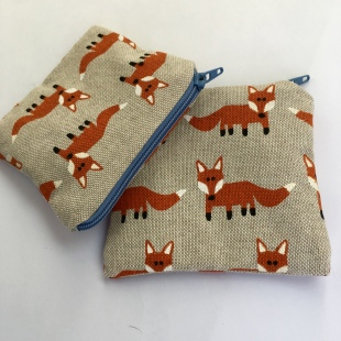 Coin Purse Mr Fox Handmade