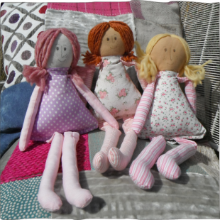 Ragdoll Handsewn Group Dolls