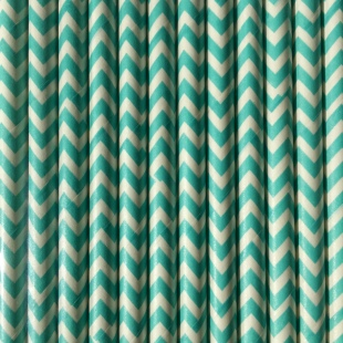Churns Green paper straws