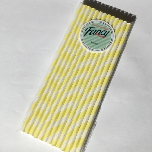 Yellow Spiral Eco Straws
