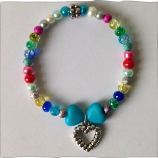 Heart Bracelet elasticated