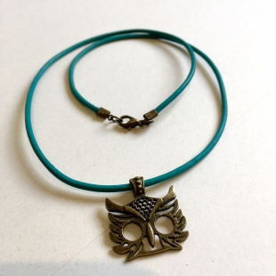 Owl Necklace Bronze