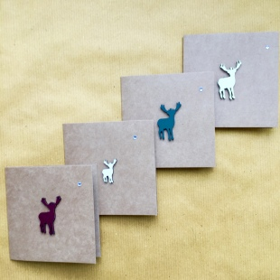 Recycled Card Stag Set