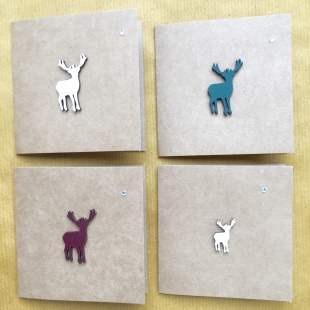 Recycled Card Stag