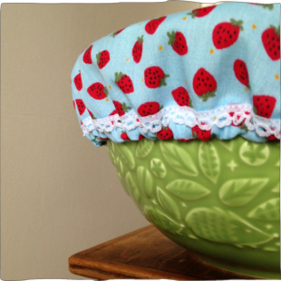 Handsewn Pot Covers Strawberry Fields