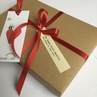 Recycled Heart Label & Box