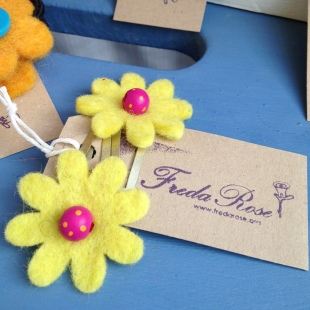 fairtrade felt hair grips