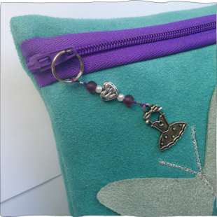 Handmade Key Charms Tutu on pencil case