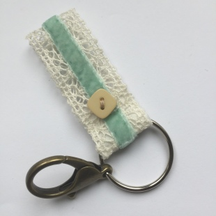 Key ring square button