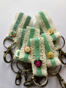 Lace Keyrings Handsewn