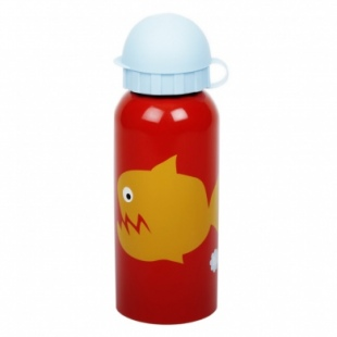 Stainless Steel Drinks Bottle Angry Fish