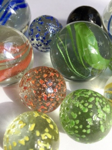 Giant glass marbles